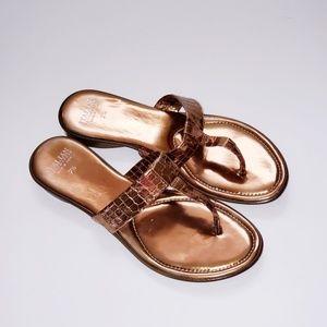 ITALIAN SHOEMAKERS sandals thongs 7.5